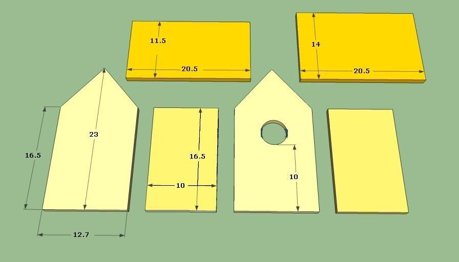 Домик для воробьев своими руками пошаговая инструкция с размерами 58