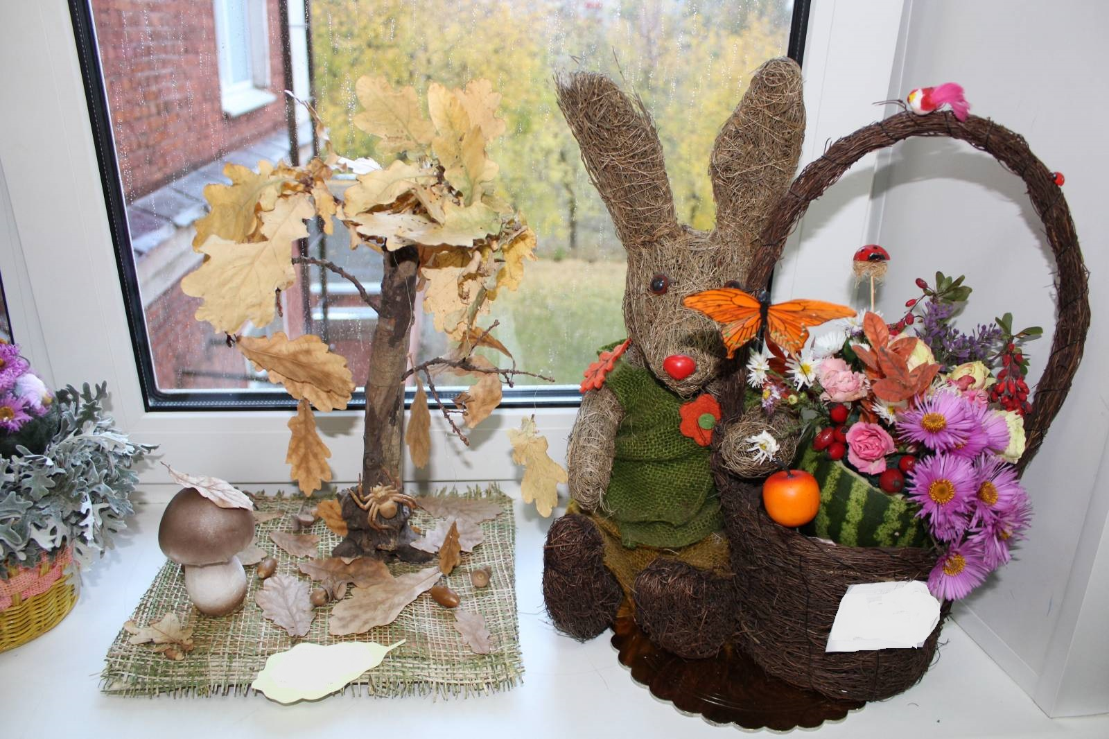 Осенние букеты своими руками из природного материала в школу фото 57